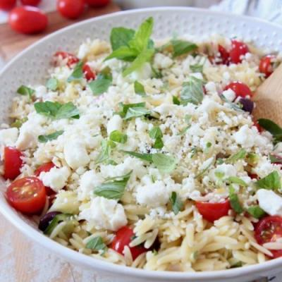 Easy Greek Orzo Salad