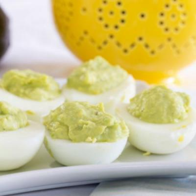 Avocado ranch deviled eggs