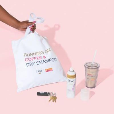 The Dunkin' Donuts x Dove Popup Proves Coffee & Dry Shampoo Are The Ultimate Combo