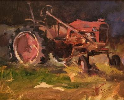 """Relic"" plein air painting by Robin Weiss"