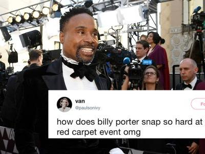 These Tweets About Billy Porter's 2019 Oscars Tuxedo Gown Are On Fire
