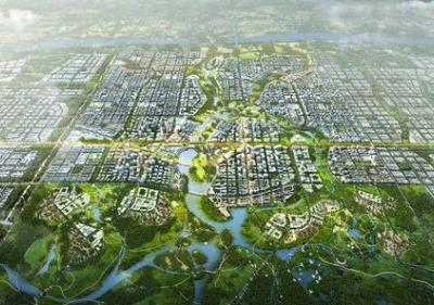 SOM and TLS Design China's Model City of the Future