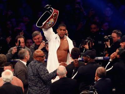 Jubilant Anthony Joshua pledges to knock Deontay Wilder 'spark out'
