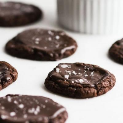 Double Chocolate + Sea Salt Cookies