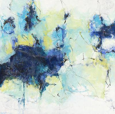 """Contemporary Abstract Expressionist Fine Art Painting for Sale """"BROKEN BRAVERY"""" by Contemporary Expressionist Pamela Fowler Lordi"""