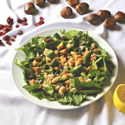 Chestnut Salad with Spinach