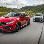 2017 Ford Focus RS vs. 2017 Honda Civic Type R - Comparison Tests