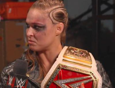 Ronda Rousey was a 'woman possessed' as she meditated in the ring, dropped SummerSlam opponent Alexa Bliss on her neck, and won her first ever WWE title