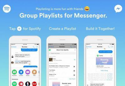 Spotify and Facebook Messenger for some playlist fun