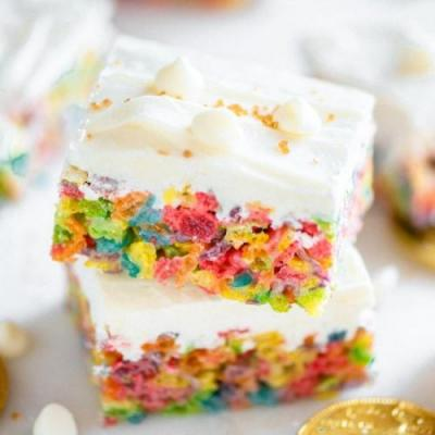 Rainbow Marshmallow Treats