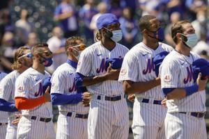 Home cooking: Mets win Citi opener vs Marlins on gift HBP