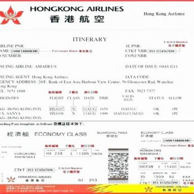 30 Beautiful Free Airline Ticket Template Graphics