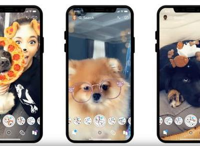 Snapchat's new lenses for dogs will make your mutt the star of Christmas