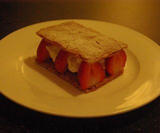 Puff Pastry and Strawberry Mille Feuille