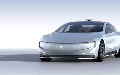 LeEco wheels out its own self-driving electric concept car. CEO