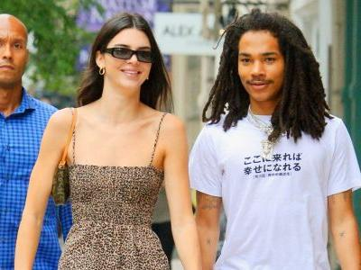 Kendall Jenner Wears Adorable Cheetah Print Mini Dress While Out With Luka Sabbat in NYC