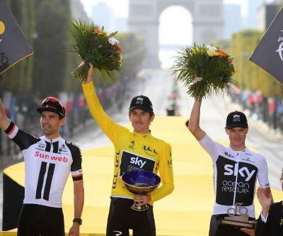 Geraint Thomas' Tour de France trophy stolen at cycling show