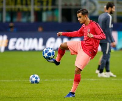 Barcelona midfielder Coutinho out 2-3 weeks with leg injury