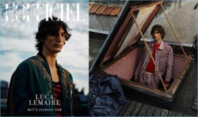Roof Wandering: Luca Lemaire Stars in L'Officiel Hommes Italia Cover Story