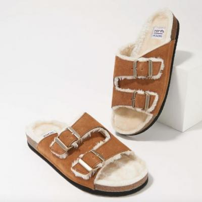 We've Found a Spot-On Dupe For Birkenstock's Coveted Arizona Shearling Slides