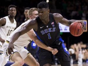 Williamson helps No. 2 Duke rout Notre Dame
