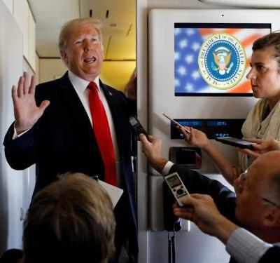 'He will not go to sleep': White House staffers reportedly dread foreign trips with Trump aboard Air Force One, where he holds meetings at odd hours and constantly watches Fox News