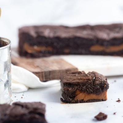 Dulce De Leche Stuffed Brownies