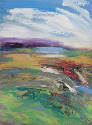 Temecula Valley on a Windy Day, one, abstract painting by Carol Engles