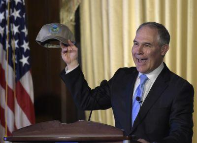 EPA administrator Scott Pruitt did not mention climate change once in his first speech to the EPA