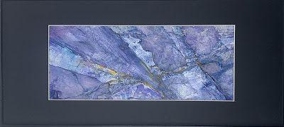 "Blue Art, Abstract Painting, Contemporary Art ""A VEIN IN THE BLUE"" by Florida Artist Mary Ann Ziegler"