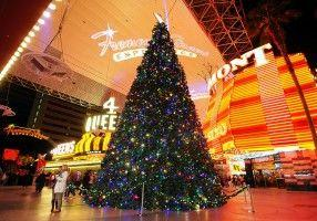 Christmas streets in USA all gearing up for the festive season