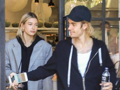 Justin And Hailey Bieber Take 'Newlyweds' To A New Level In Matching Pink Outfits