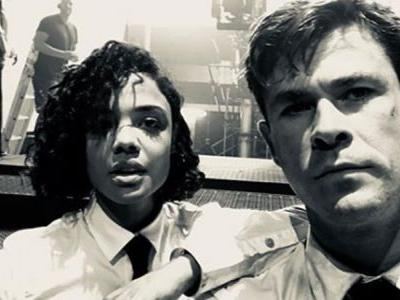 Chris Hemsworth and Tessa Thompson Share Photo from the Set of Men in Black