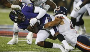Ravens and Bears show off D, Baltimore wins 17-16