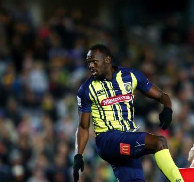 Usain Bolt scores first Central Coast Mariners brace