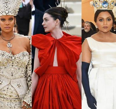 The 'Ocean's 8' stars rocked the Met Gala red carpet ahead of their heist movie about robbing the Met Gala
