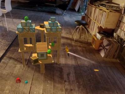 Magic Leap hands-on - Flinging Angry Birds on a coffee table in augmented reality