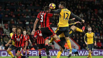 Giroud leads Arsenal comeback to salvage draw at Bournemouth