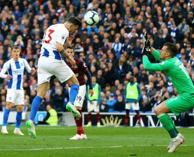 Brighton ends goal drought to inch closer to EPL safety