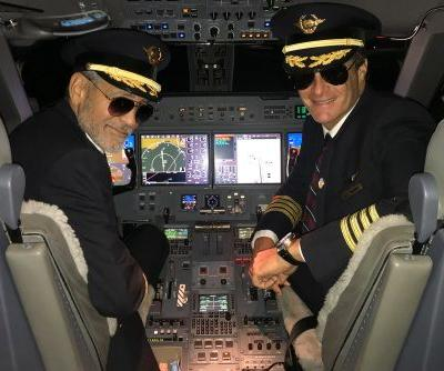 George Clooney and Rande Gerber play pilots for Halloween