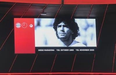 Minute of silence held for Maradona ahead of 8 Champions League matches