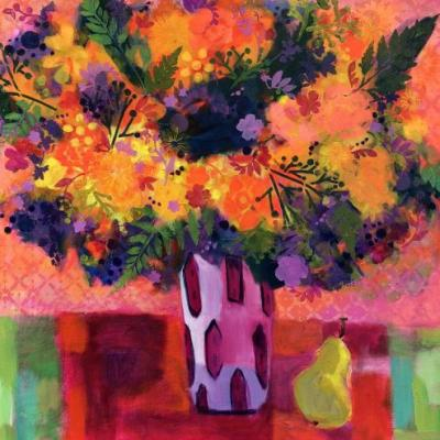 "Contemporary Expressionist Still Life Flower Art Painting ""More Spring"" by Santa Fe Artist Annie O'Brien Gonzales"