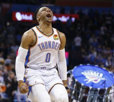 Westbrook records NBA's second 20-20-20 triple-double