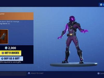 Animated Tempest skin thunders into the Fortnite item shop with the Raging Storm set