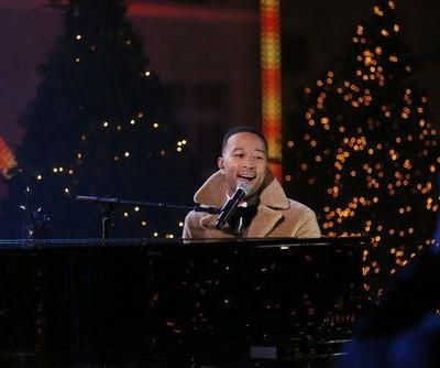John Legend's Rockefeller Tree Lighting Performance Was Perfect To Kick Off The Holiday