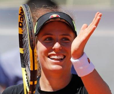 The Latest: Martic and Konta reach French quarterfinals