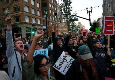 Hundreds march to denounce white nationalist violence after Virginia rally