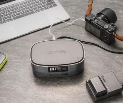 The River Bank is portable power for all your devices and it can even go on a plane