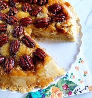 Dad's Upside-Down Pecan-Apple Pie