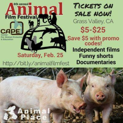 Register now for the Animal Film Festival in Grass Valley, CA